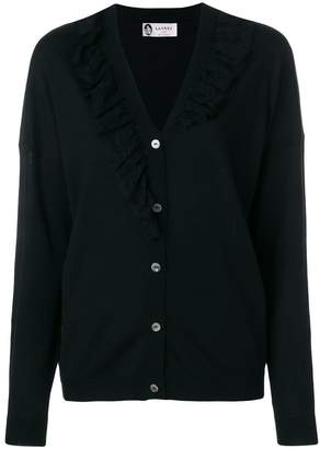 Lanvin ruffled lace cardigan