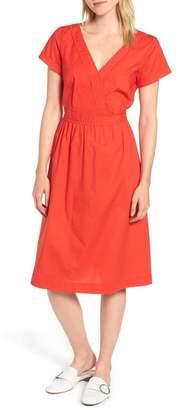 J.Crew J. Crew Short-Sleeve V-Neck Midi Dress (Regular & Petite)