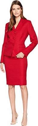 Le Suit Women's Tweed 3 Button Jacket Skirt