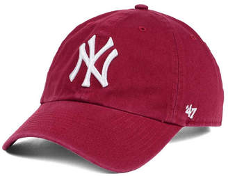 '47 New York Yankees Cardinal and White Clean Up Cap