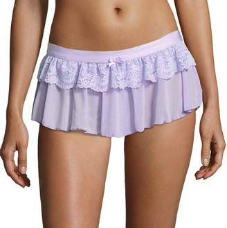 Maidenform Women's Extra Sexy Floral Lace Skirted Thong DM1123