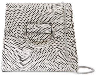 Little Liffner - D Tiny Box Lizard-effect Leather Shoulder Bag - White
