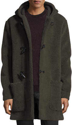 Vince Hooded Sherpa Toggle Coat