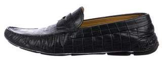 Giorgio Armani Embossed Driving Loafers