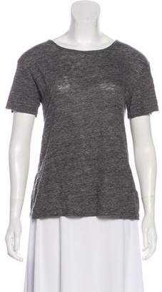Alexander Wang Linen Short Sleeve Top