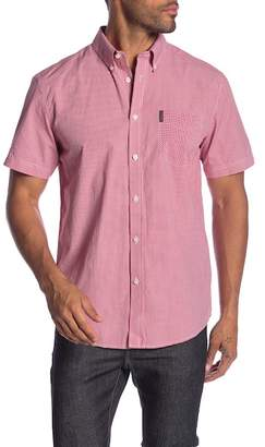 Ben Sherman Short Sleeve Mini Gingham Print Shirt
