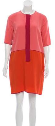 Victoria Beckham Victoria Colorblock Mini Dress