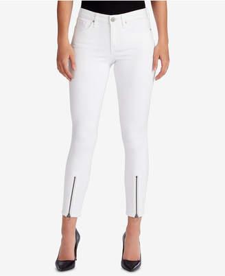William Rast Zippered-Hem Skinny Jeans