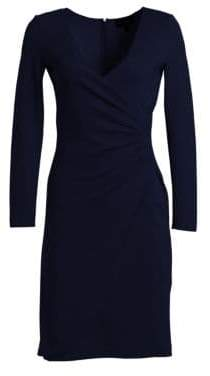 Emporio Armani Gathered V-Neck Dress