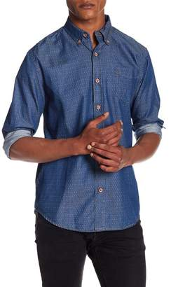 Weatherproof Diamond Print Chambray Shirt