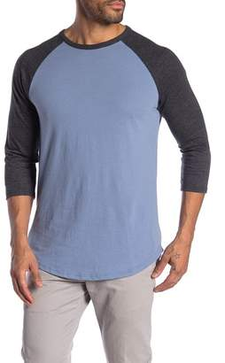 Public Opinion 3\u002F4 Length Sleeve Baseball Tee