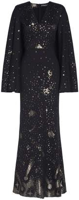 Alexander McQueen Moon & Star Cape Dress