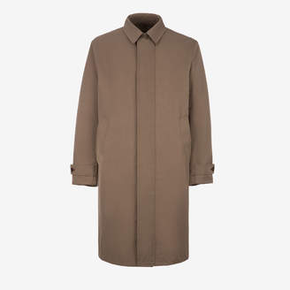 Bally Techno Bonded Trench Coat Grey, Men's techno bonded coat in snuff
