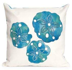 Visions II Sand Dollar Indoor and Outdoor Square Pillow