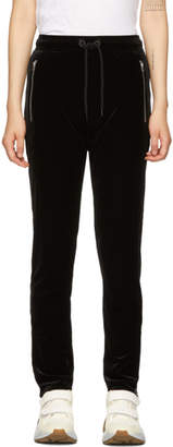 Rag & Bone Black Velvet Lounge Pants