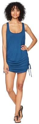 Lucky Brand Baja California Shirred Side Tank Tunic Cover-Up Women's Swimwear