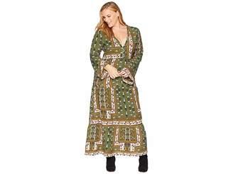 KARI LYN Plus Size Maren Long Sleeve Printed Maxi Dress