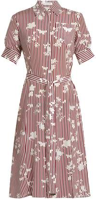 Altuzarra Kieran point-collar striped silk shirtdress
