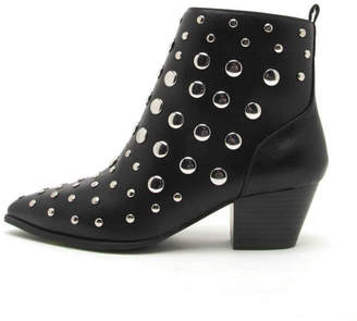Qupid Studded Black Booties