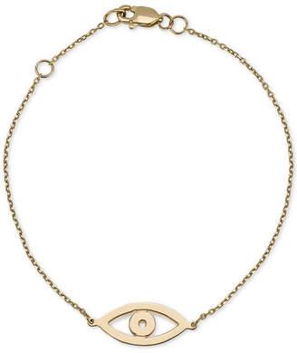 Sarah Chloe Evil-Eye Link Bracelet in 14k Gold
