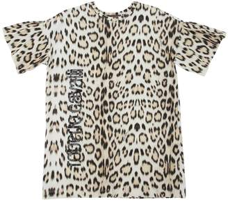 Roberto Cavalli Leopard Printed Cotton Jersey Dress