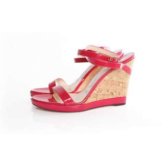 Jimmy Choo Pink Patent leather Sandals
