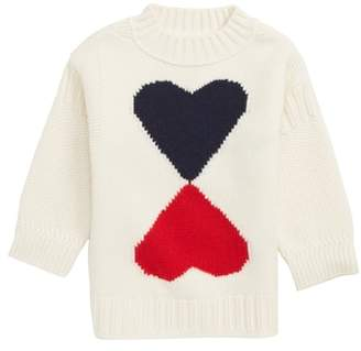 Burberry Double Heart Wool & Cashmere Sweater