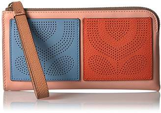 Orla Kiely PUnched Pocket Leather Flat Wallet Wallet