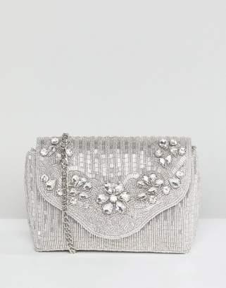 Dune All Over Embellished Bag in Silver