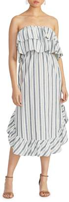 Rachel Roy Jacinita Linen Cotton Blend Knee-Length Dress