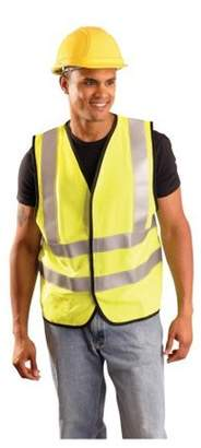 OccuNomix Occunomix LUX-SSFG-FR Premium Solid Dual Stripe Flame Resistant Safety Vest-Yellow/Lime