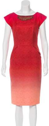 Matthew Williamson Ombré Midi Dress