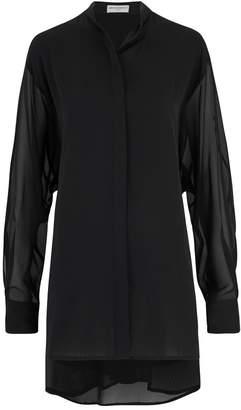 Amanda Wakeley Sinai Black Pleat Shirt