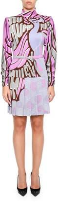 Miu Miu Peacock Jersey Dress