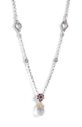 Konstantino Pythia Crystal Chain Pendant Necklace