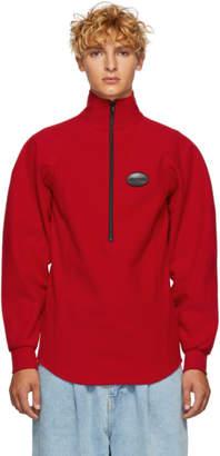 Ribeyron Red Fleece Warmer Sweater