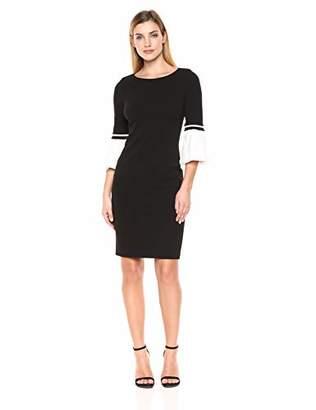 0a781135f4e Calvin Klein Women's Color Block Cuff Bell Sleeve Dress