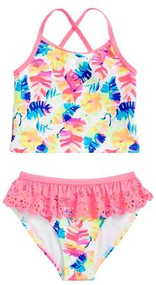 Flapdoodles Tropical Two-Piece Swimsuit