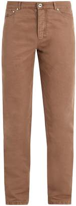 Brunello Cucinelli Slim-leg linen-blend trousers
