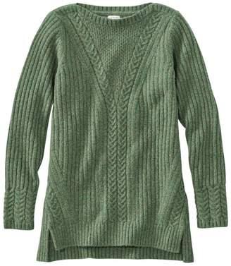 L.L. Bean L.L.Bean Cozy Mixed Stitch Sweater Pullover Long Sleeve Misses Regular