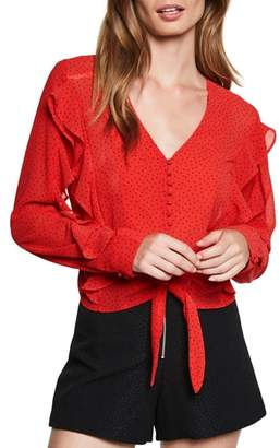 Bardot Dotted Tie Top