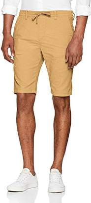 Tom Tailor Men's Shorts Mit Lässigem Tunnelzug (Smoked Beige 8580), (Size: 33)