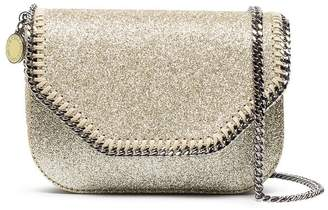 Stella McCartney Metallic Gold Glitter Falabella Mini Cross Body Bag