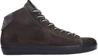 Leather Crown Brown Suede Sneakers
