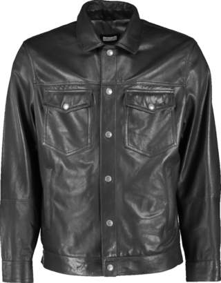 Brunello Cucinelli Leather Trucker Jacket