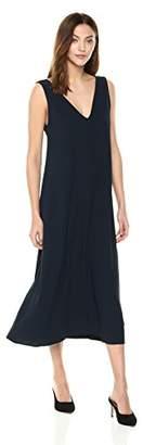 Theory Women's Deep V Neck Maxi Dress