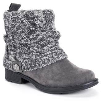 Muk Luks Pattrice Faux Suede Ankle Boot