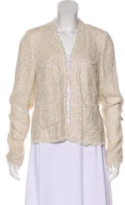 L'Agence Tweed Bouclé Casual Jacket