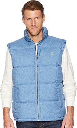 U.S. Polo Assn. Men's Signature Heather Bubble Vest Dark Gray