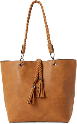 Imoshion Braided Tassel Reversible Tote